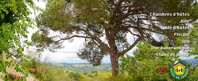 Le domaine de la Moretie - gite, chambres d'hôtes, table d'hôtes, à Cublac entre Périgord et Corrèze