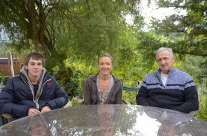Marie-Pierre Praudel et sa famille